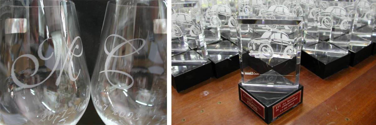 incisione su bicchieri