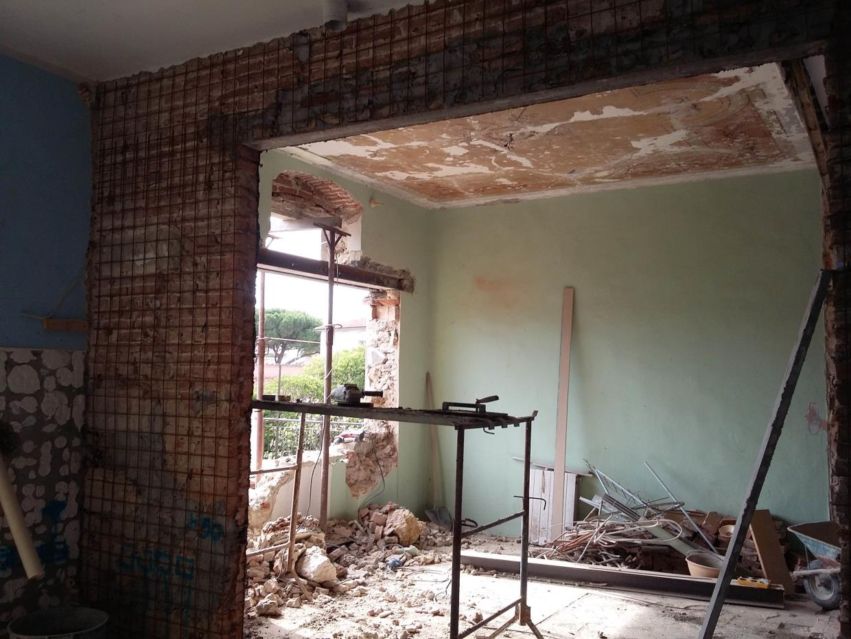 aperture su muro portante con betoncino