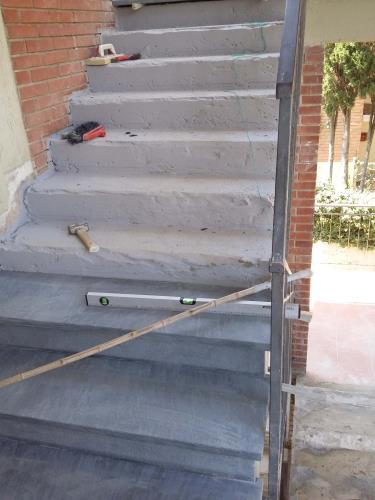 posa di scala in Cardoso spazzolato
