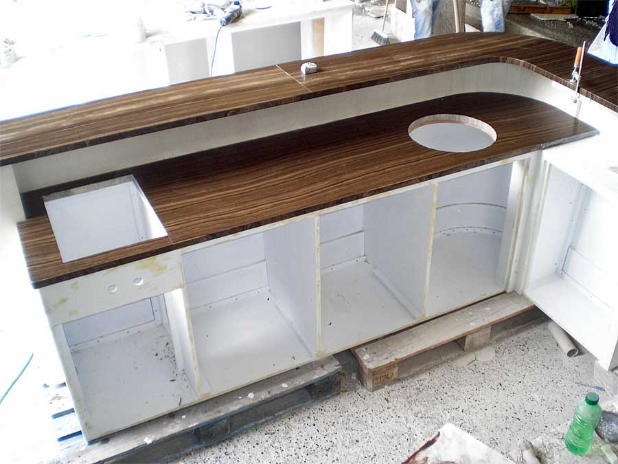 Marble interior cladding for yachts La Spezia