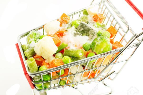 Vendita verdure surgelate