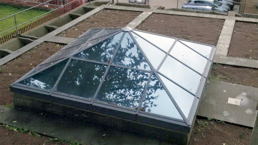 coperture in vetro ferro e alluminio