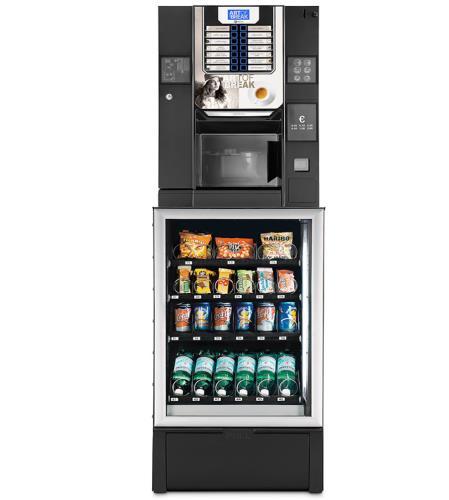 MINISNAKKY + BRIO UP distributore automatico combinato per uffici o piccole aziende