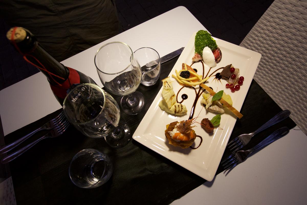 piatti di pesce ristorante al focolare ariccia