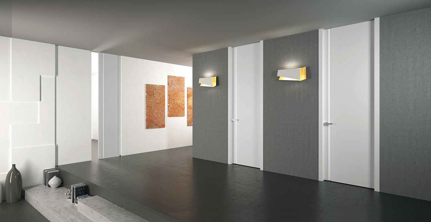 flessya-porte a soffitto NM00 laccato bianco