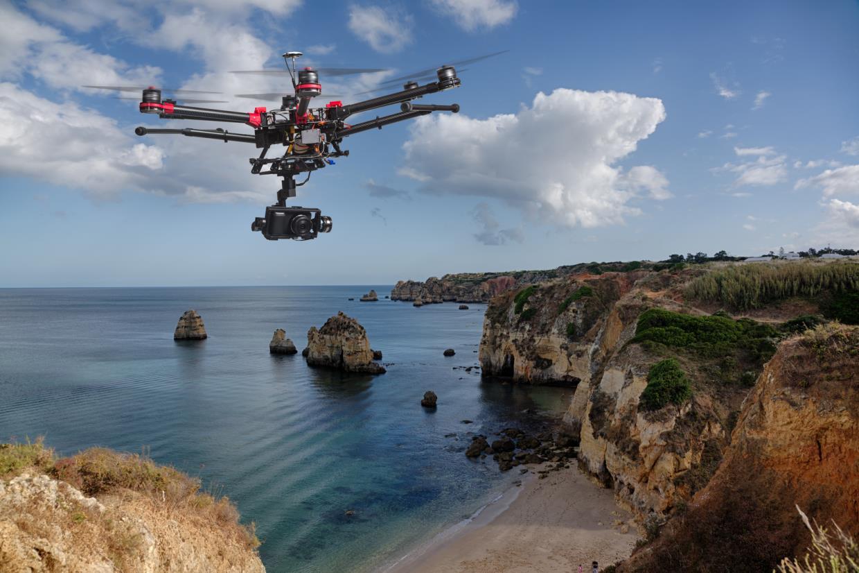 ripresa aerea con il drone