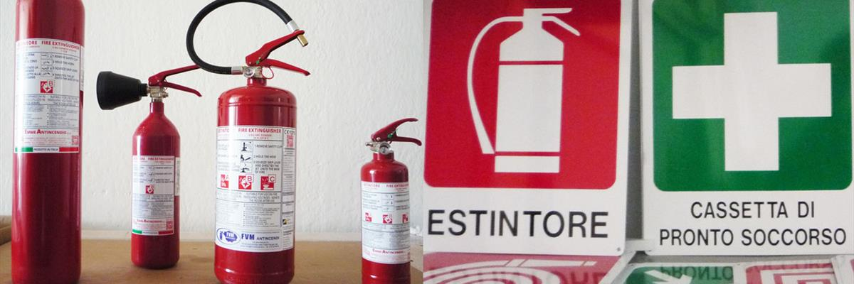 Estintori, antincendio e antinfortunistica
