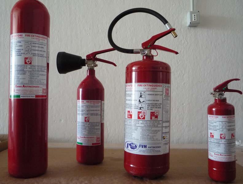Estintori e dispositivi antincendio