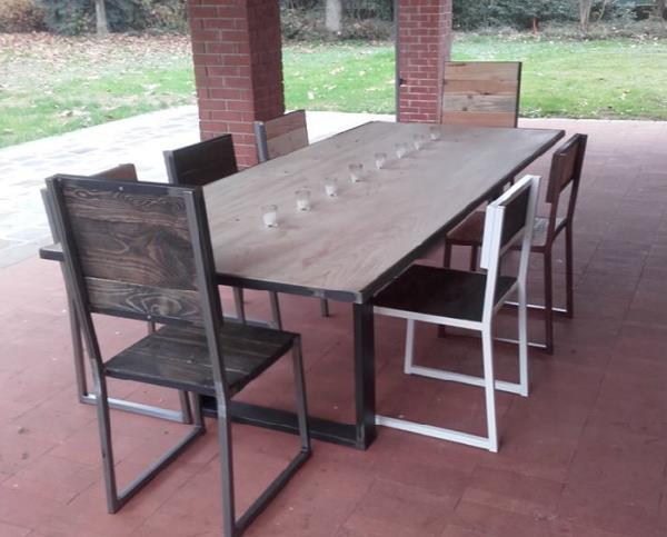 arredamenti post moderni in legno e ferro artigianali brescia