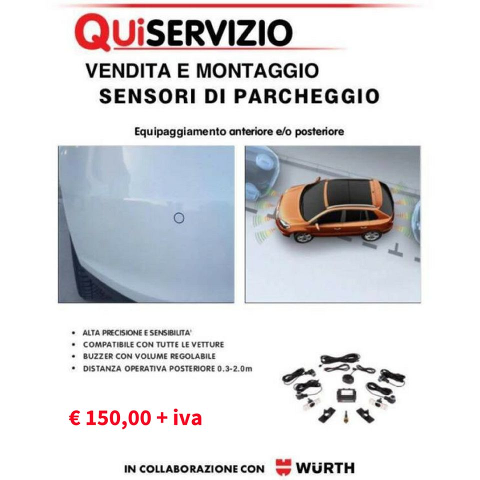 promo sensori di parcheggio