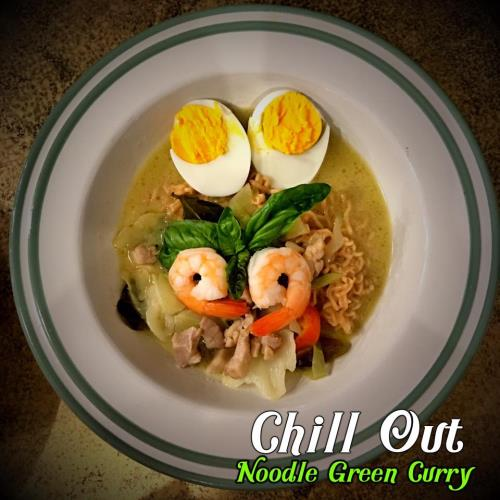 Noodle green curry