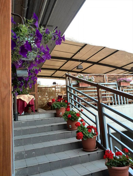 ristorante all'aperto San Giustino Perugia