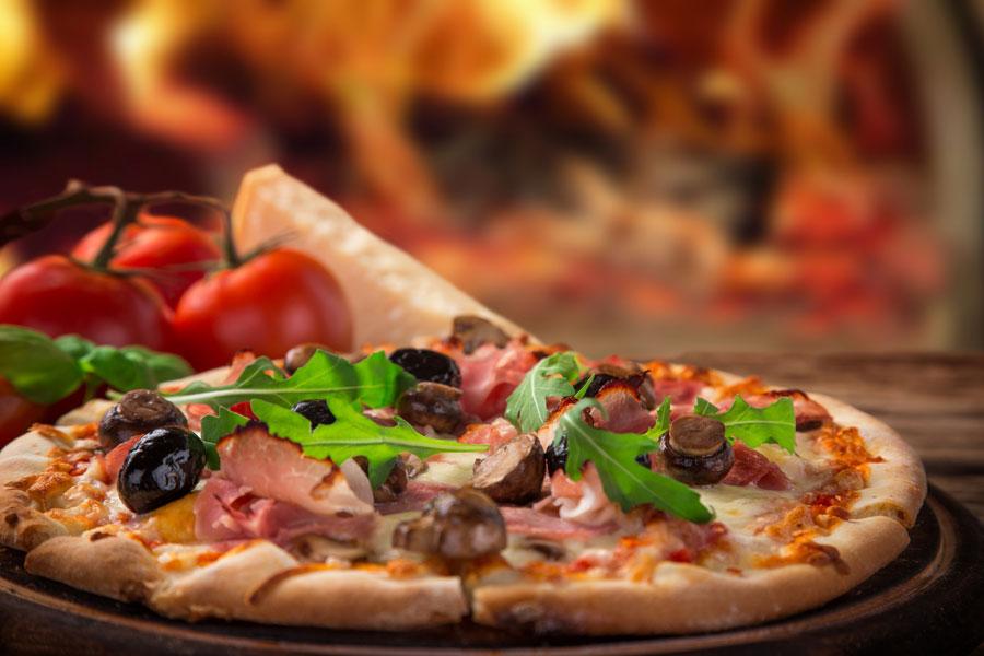 pizze cotte nel forno a legna San Giustino Perugia