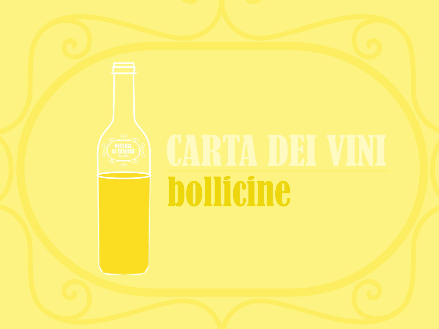 carta dei vini bollicine - spumanti - prosecchi - franciacorta