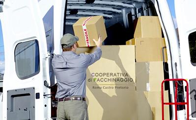 Logistica di magazzino cooperativa castro pretorio
