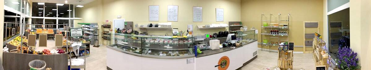 negozio dispensa brescia, vendita frutta, verdura, gastronomia, marmellate, spezie, infusi, tisane, tè